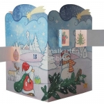 Adventskalender leuchtend - Winterlandschaft