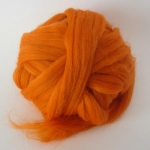 Weicher Wollkammzug - orange 50 g
